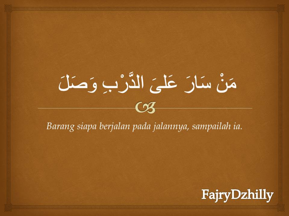 Kata Kata Mutiara Dalam Bahasa Arab Beserta Artinya