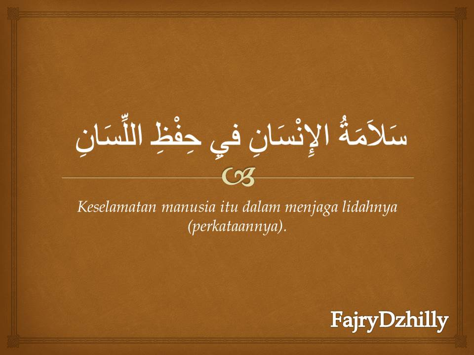 Kata-kata Mutiara dalam Bahasa Arab (Mahfudzat)   fajrydzhilly