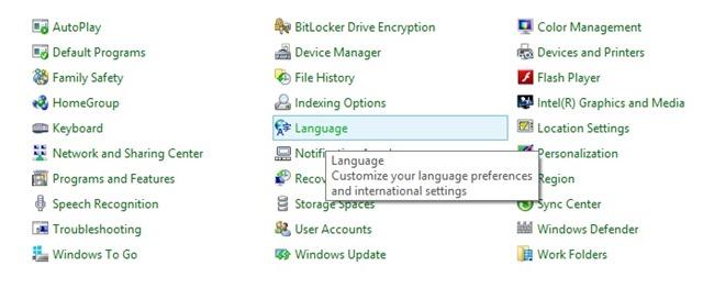 Cara menambahkan language di windows 8