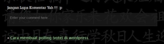 Cara mengganti tulisan tinggalkan komentar di wordpress 2