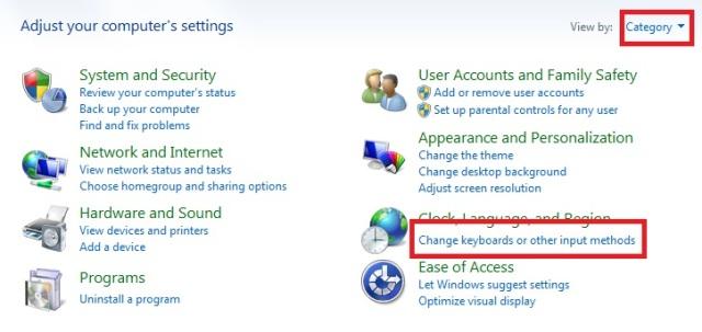 2.1 Cara menambahkan jenis bahasa di taskbar pada windows 7