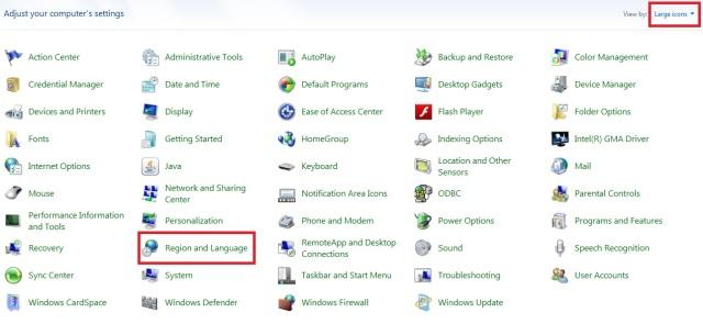 2 .2 Cara menambahkan jenis bahasa di taskbar pada windows 7