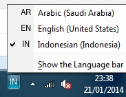 6 Cara menambahkan jenis bahasa di taskbar pada windows 7